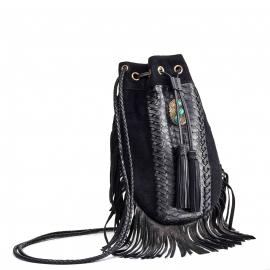Python Fringes Bag Cheyenne Black