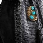 Sac à Franges Python Cheyenne Noir