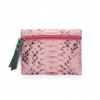 Coin Holder Olivia Python Powder Pink