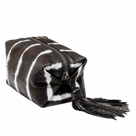 Trousse Python Paulette Tie & Dye Noir