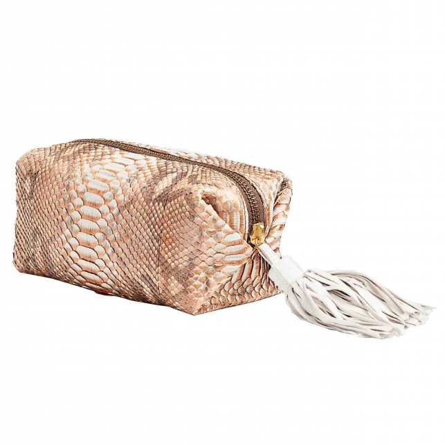 Case Paulette Python Pink Gold Metallic