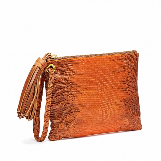 Pochette Lezard Elen Orange