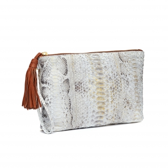 Python Clutch Andy Gold Foil