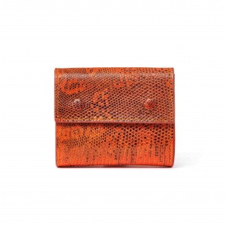 Orange Lizard Peter Wallet
