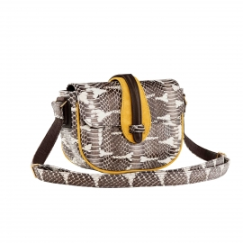 Hobo Bag Andrea Watersnake yellow suede