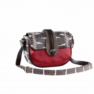 Hobo Bag Andrea Red And Watersnake