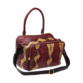 Burgundy Painted Python Bag Lalya