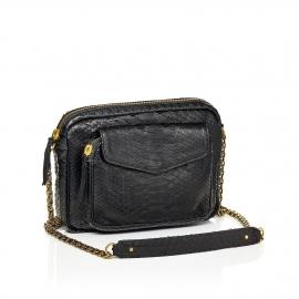 Python Bag Big Charly Black Gold Chain