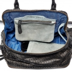 Python bag Lalya Black silver metalwork