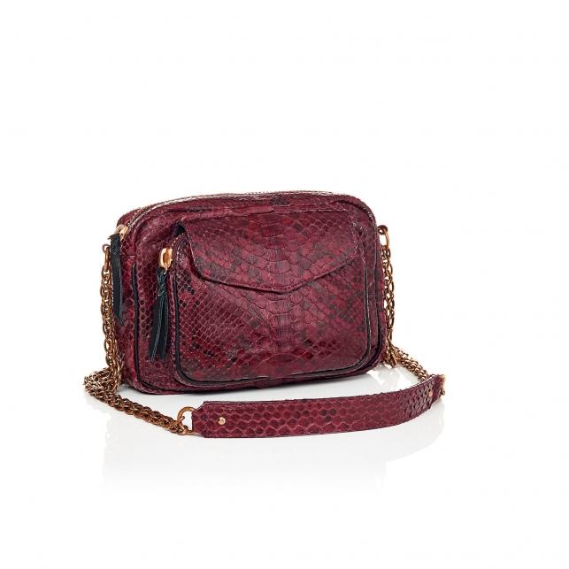 Python Charly Burgundy bag