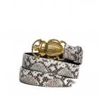 Diamond Python Belt Beatle Golden Buckle