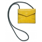 Yellow Lizard Card Holder Sasha