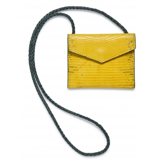 Yellow Lizard Card Holder Sasha
