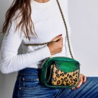 Python Leopard Emerald Charly Bag