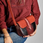 Python bag Andrea Burgundy Red