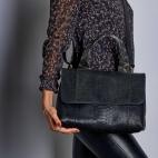 Black Python Watersnake Mimi Bag