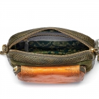 Python Tricolore Kaki Orange Charly Bag