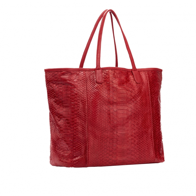 Red Python Tote Marny