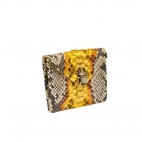 Yellow Painted Python Card Holder Alex