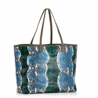 Ocean Painted Tote Bag Python Marny