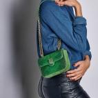 Python Bag Ava Owl Tricolore Moss