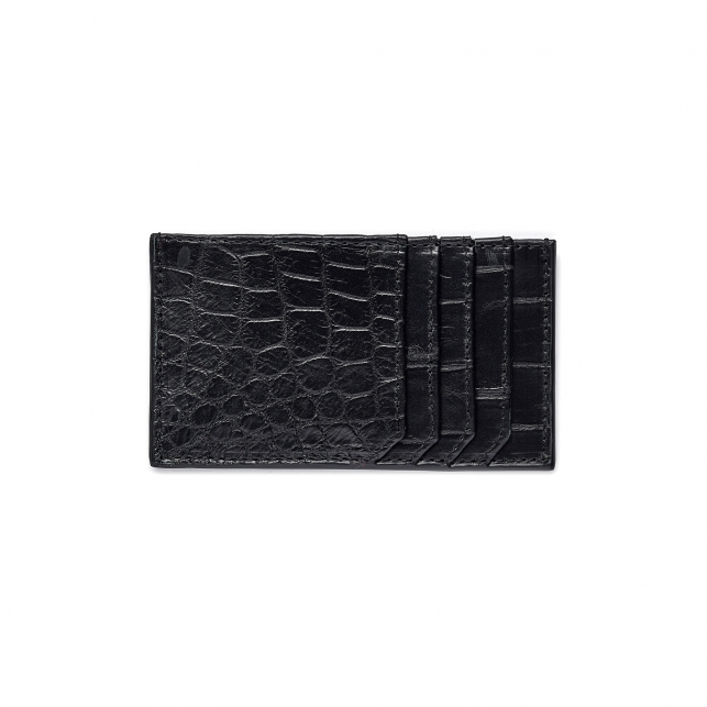 Black Croco Card Holder JL