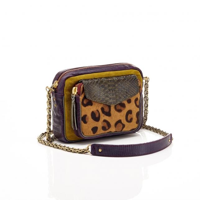 Python Leopard Kaki Charly Bag