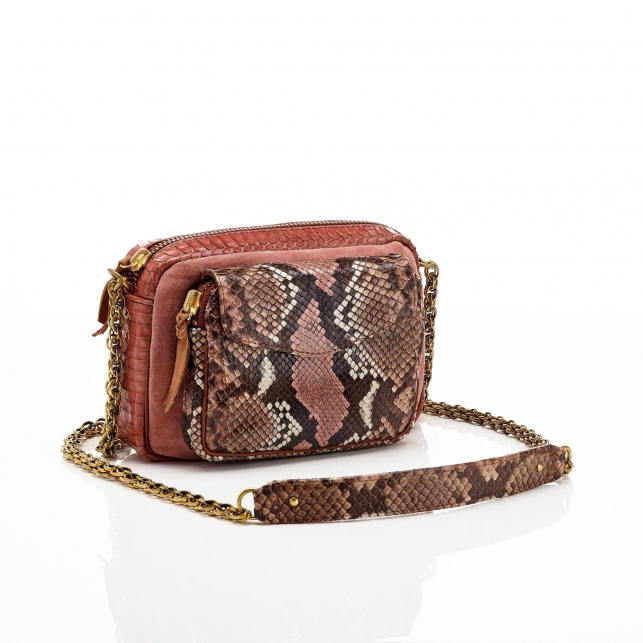 Python Pink Painted Charly Bag