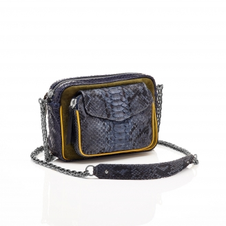Python Tricolor Denim Charly Bag