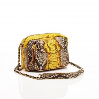 Python Yellow Painted Charly Bag