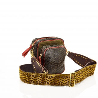 Python Kaki Mini Charly Bag