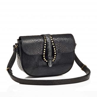 Python Bag Andrea Black Studs