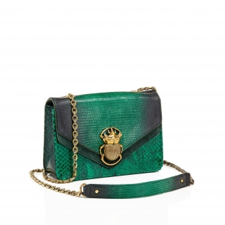 Python Green Mix Romy Beatle Bag