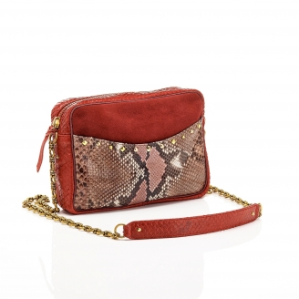 Bag Python Kate Red Burgundy