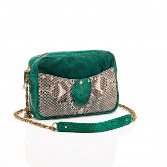 Bag Python Kate Green Mix