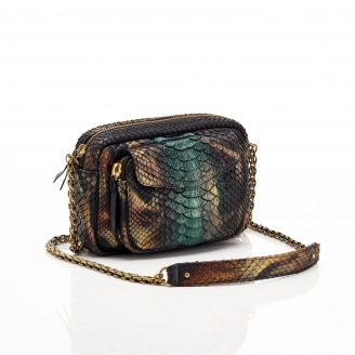 Python New Metalic Peacock Charly Bag