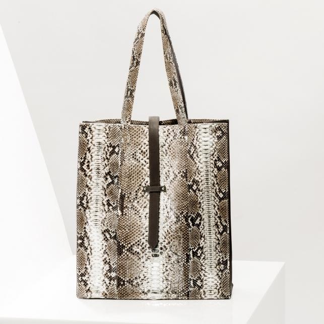 Claris Virot: Tote Bag Georgia silver - Hiphunters Shop
