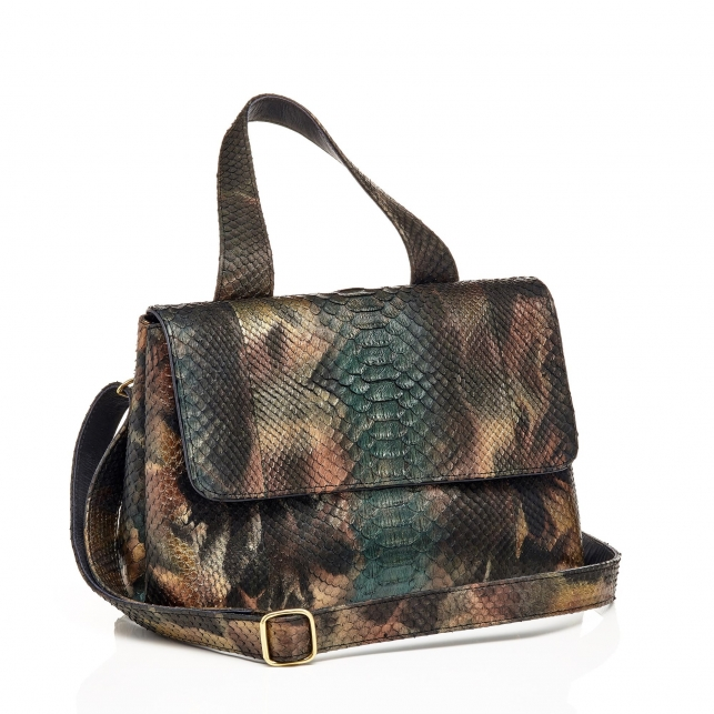 Mimi Python Bag New Metallic Peacock