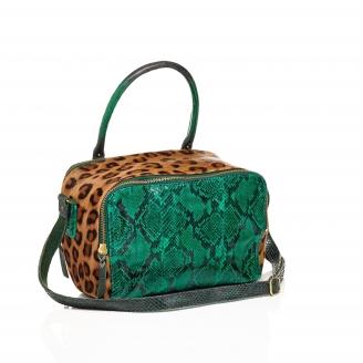 Sac Python Lalya Leopard Vert