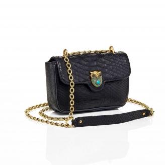 Python Bag Ava Owl Trimat Black