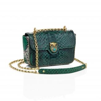 Python Bag Ava Owl Dark Green