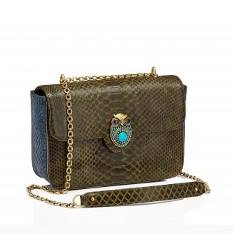 Python Bag Big Ava Owl Kaki Navy