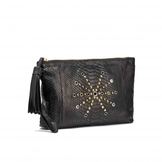 Clutch Python Andy Black with studs