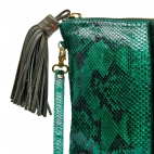 Clutch Python Andy Leopard green mint