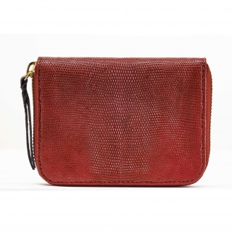 Burgundy Lizard Wallet Mini Bob