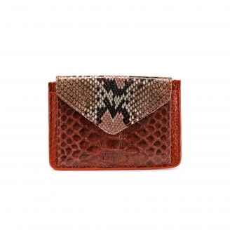 Burgundy Python Card Holder Tess