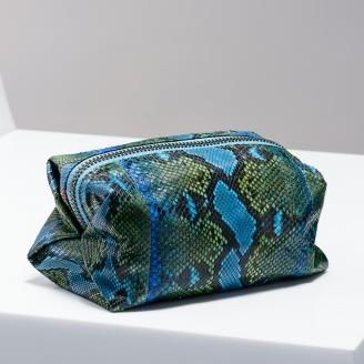 Trousse Paulette Vert Bleu Painted