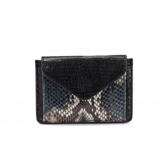 Black Python Card Holder Tess
