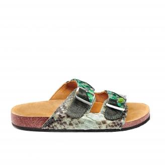 Python Sandals Odette Celadon