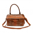Bag Lalya Python Leather Moka